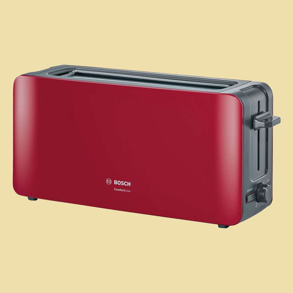 bosch langschlitz toaster tat 6 a 004 comfortline rot. Black Bedroom Furniture Sets. Home Design Ideas