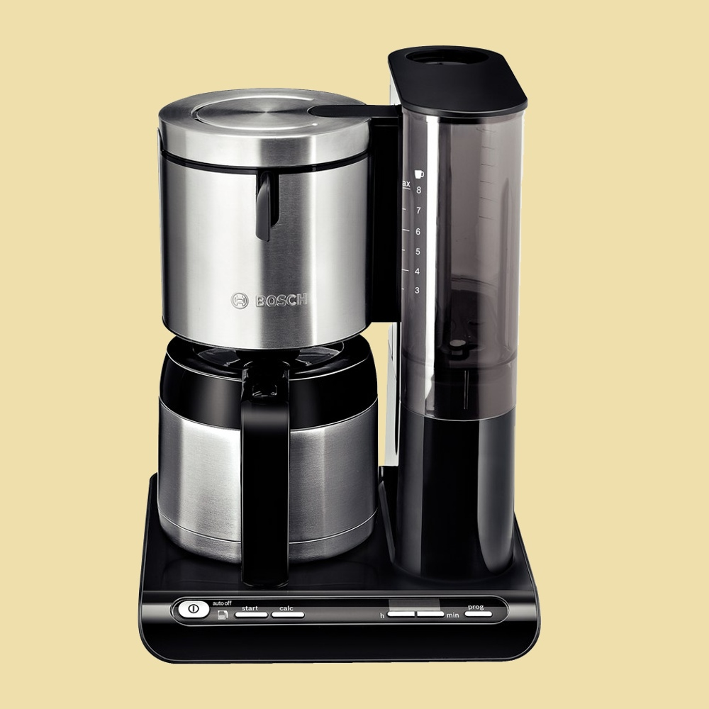bosch thermo kaffeemaschine tka 8653 styline mit timer schwarz edelstahl 4242002595009 ebay. Black Bedroom Furniture Sets. Home Design Ideas