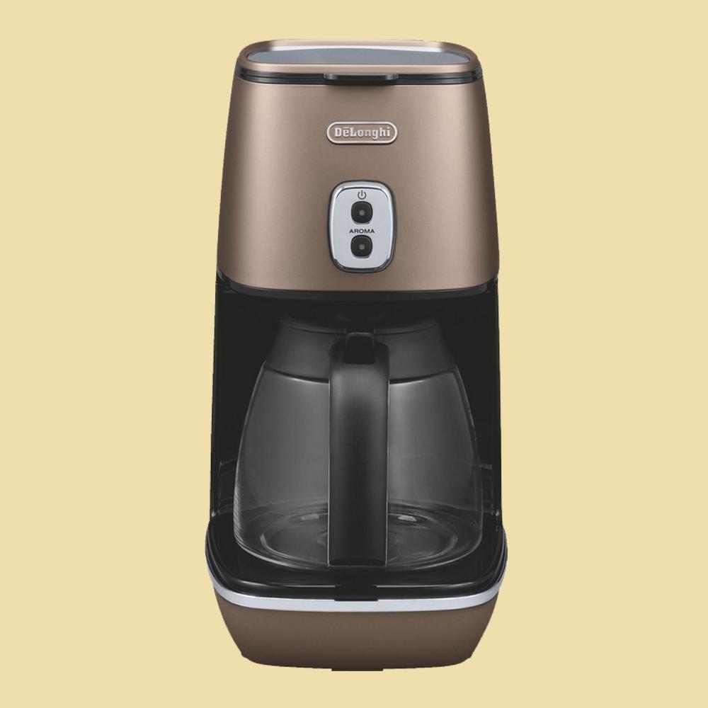 delonghi kaffeemaschine distinta icmi 211 bz future bronze. Black Bedroom Furniture Sets. Home Design Ideas
