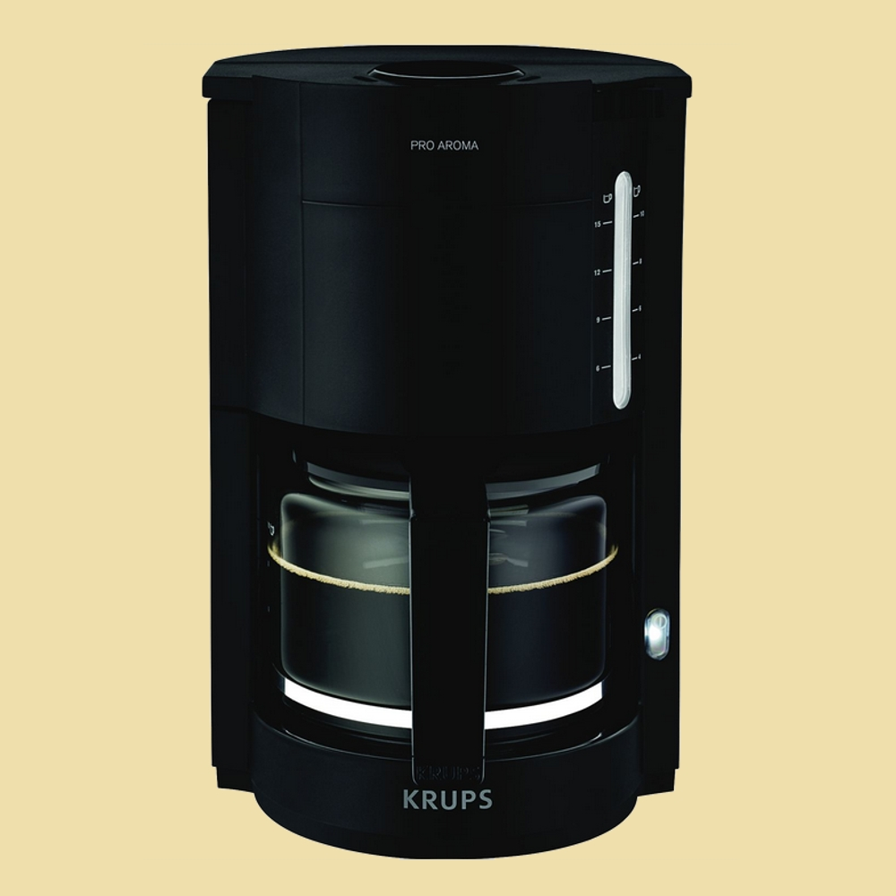 krups kaffeemaschine proaroma f 309 08 schwarz matt f30908. Black Bedroom Furniture Sets. Home Design Ideas