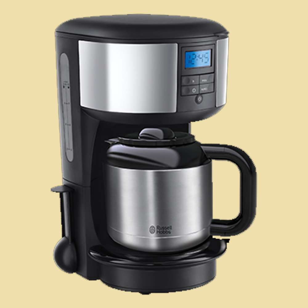 russell hobbs digitale thermo kaffeemaschine chester 20670 56 edelstahl schwarz ebay. Black Bedroom Furniture Sets. Home Design Ideas