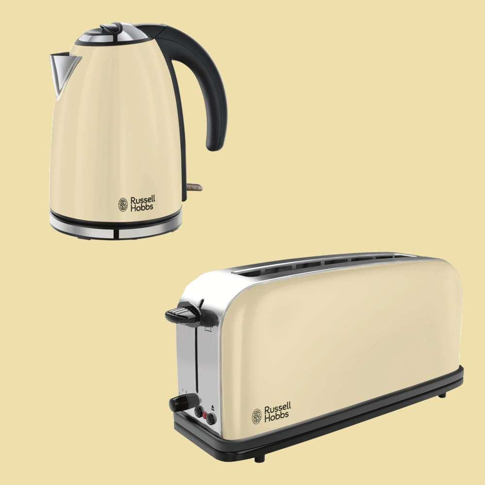 russell hobbs classic cream wasserkocher 18943 70 langschlitztoaster 21395 56. Black Bedroom Furniture Sets. Home Design Ideas