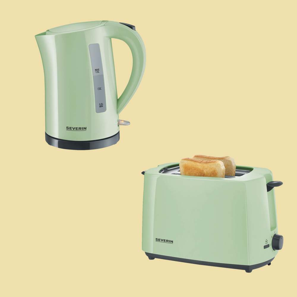 severin set mintgr n wasserkocher wk 9921 toaster at 9920 ebay. Black Bedroom Furniture Sets. Home Design Ideas