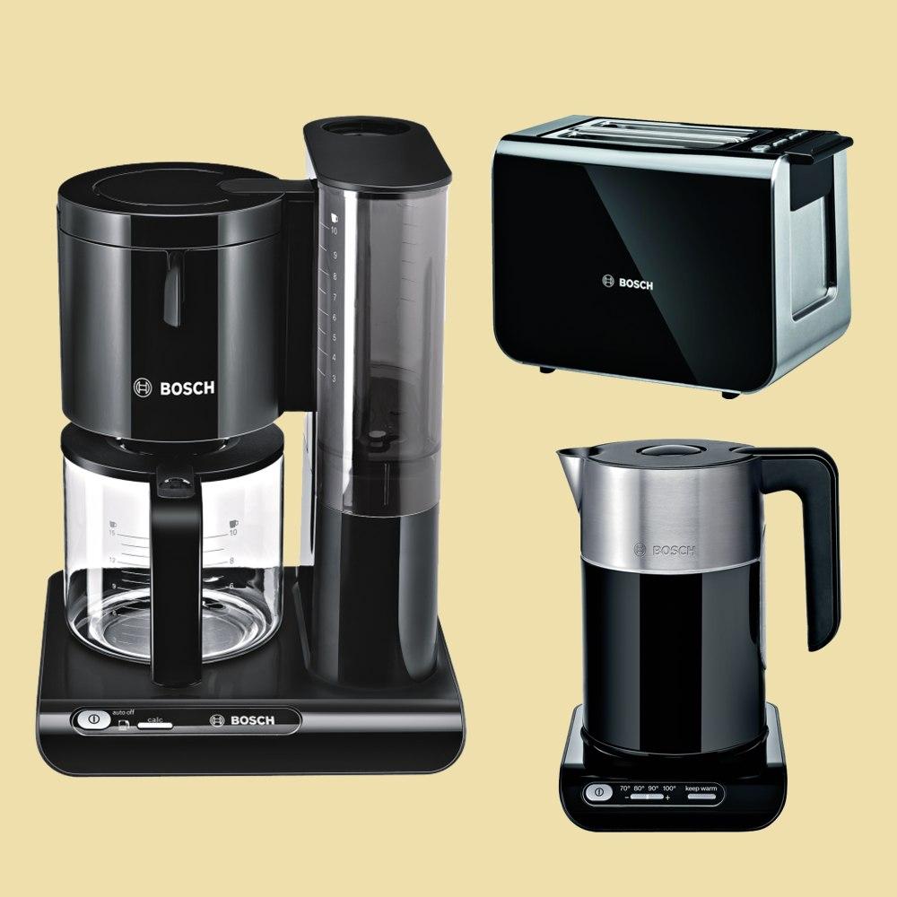 schwarz Bosch Glaskrug-Kaffeemaschine TKA 8013 Styline