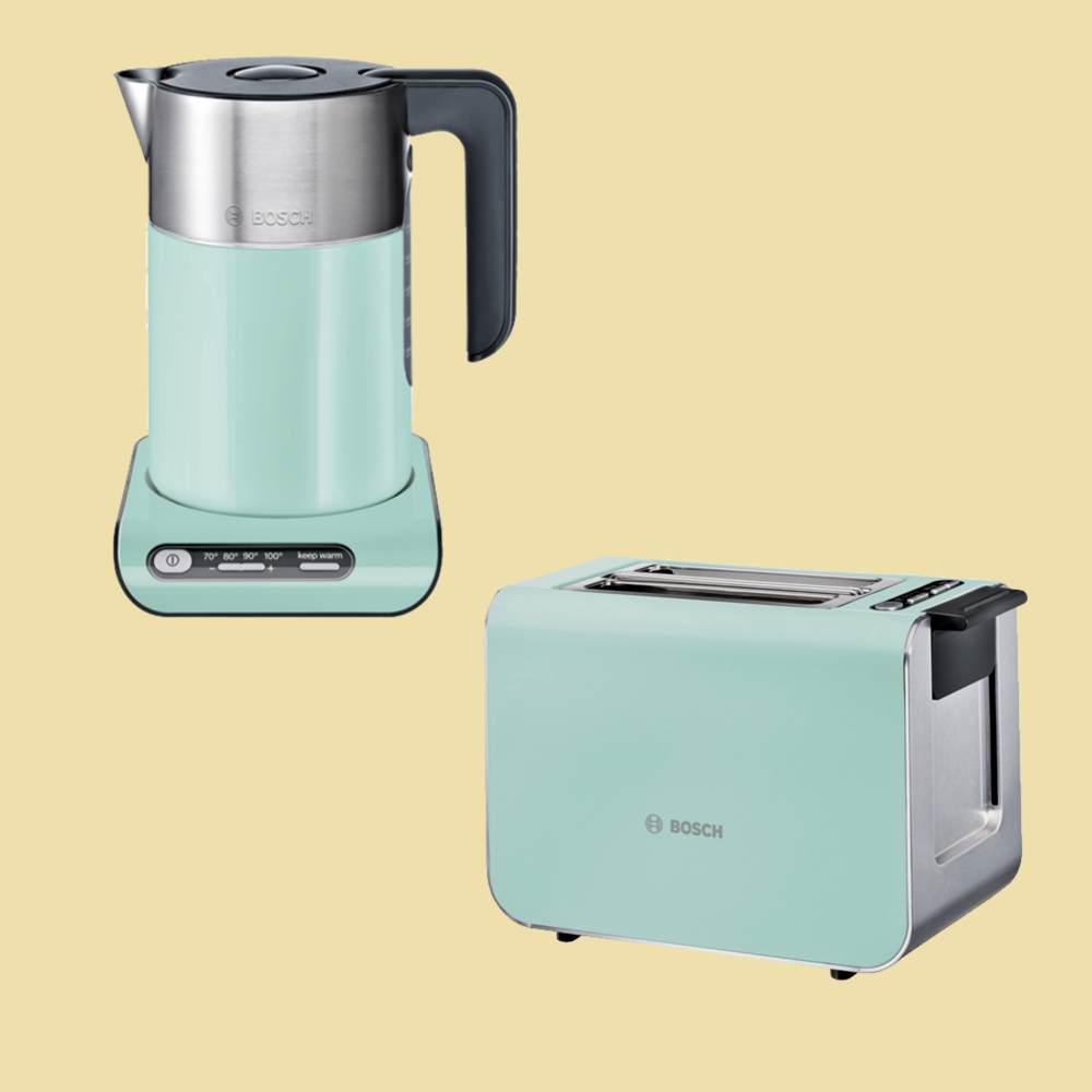 bosch set styline wasserkocher twk8612p toaster tat8612 mint turquoise ebay. Black Bedroom Furniture Sets. Home Design Ideas