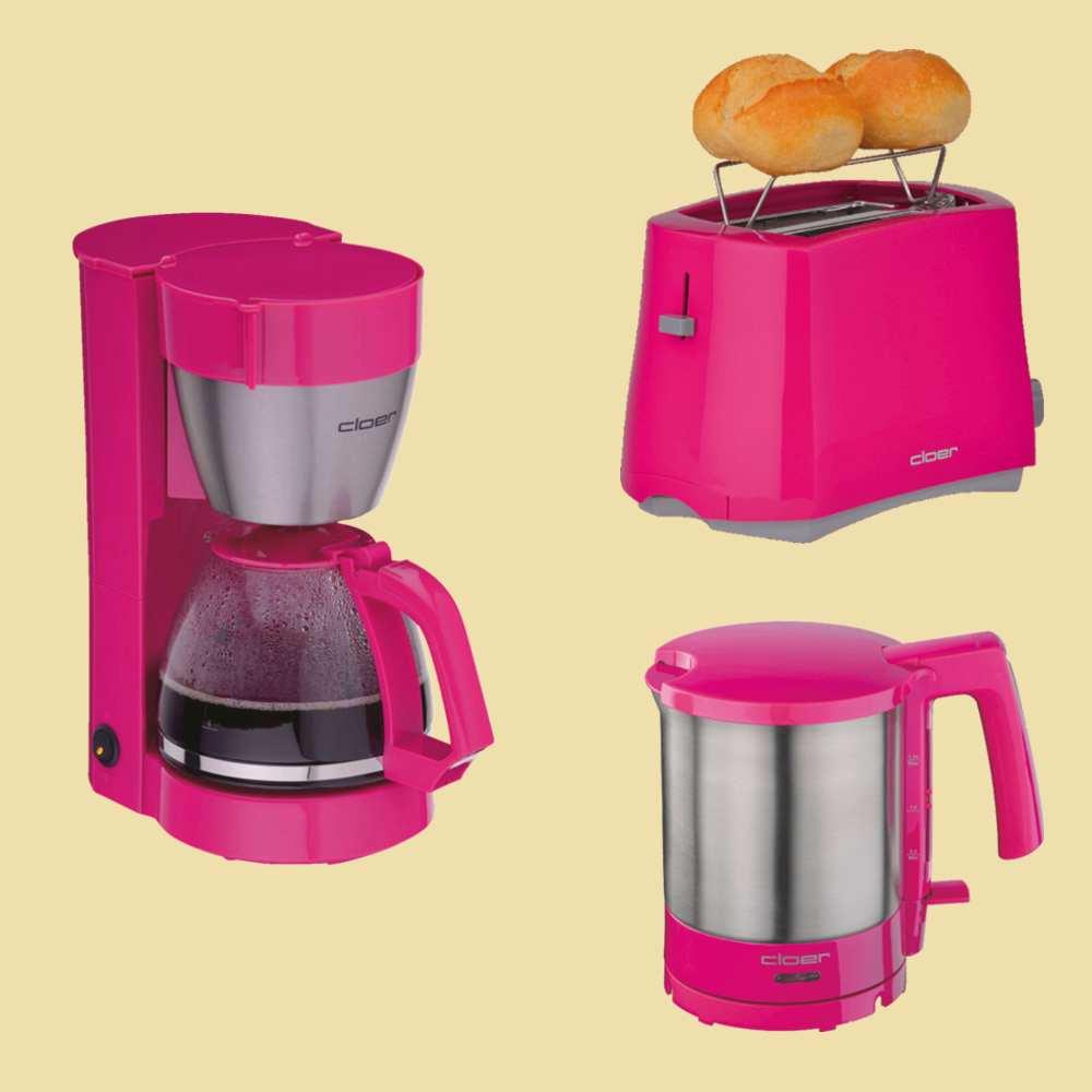 Cloer Wasserkocher 4717-1 pink Edelstahl 1,5 Liter 2000 Watt NEU B-Ware