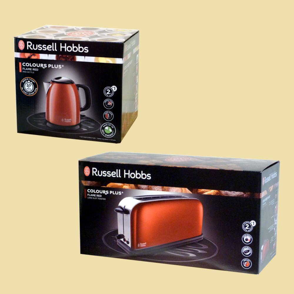 Langschlitztoaster Russell Hobbs Colours Plus Flame Red Wasserkocher 1,0 L