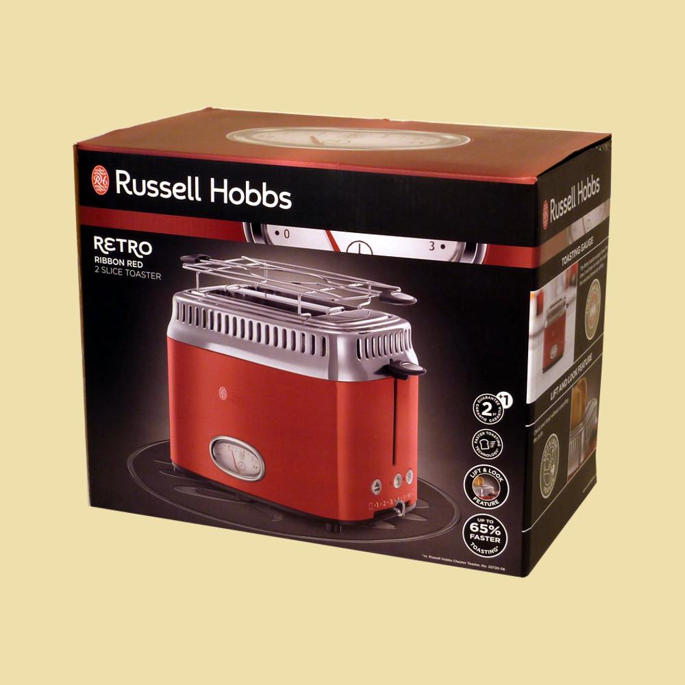 russell hobbs toaster retro ribbon red 21680 56 rot edelstahl 4008496892518 ebay. Black Bedroom Furniture Sets. Home Design Ideas