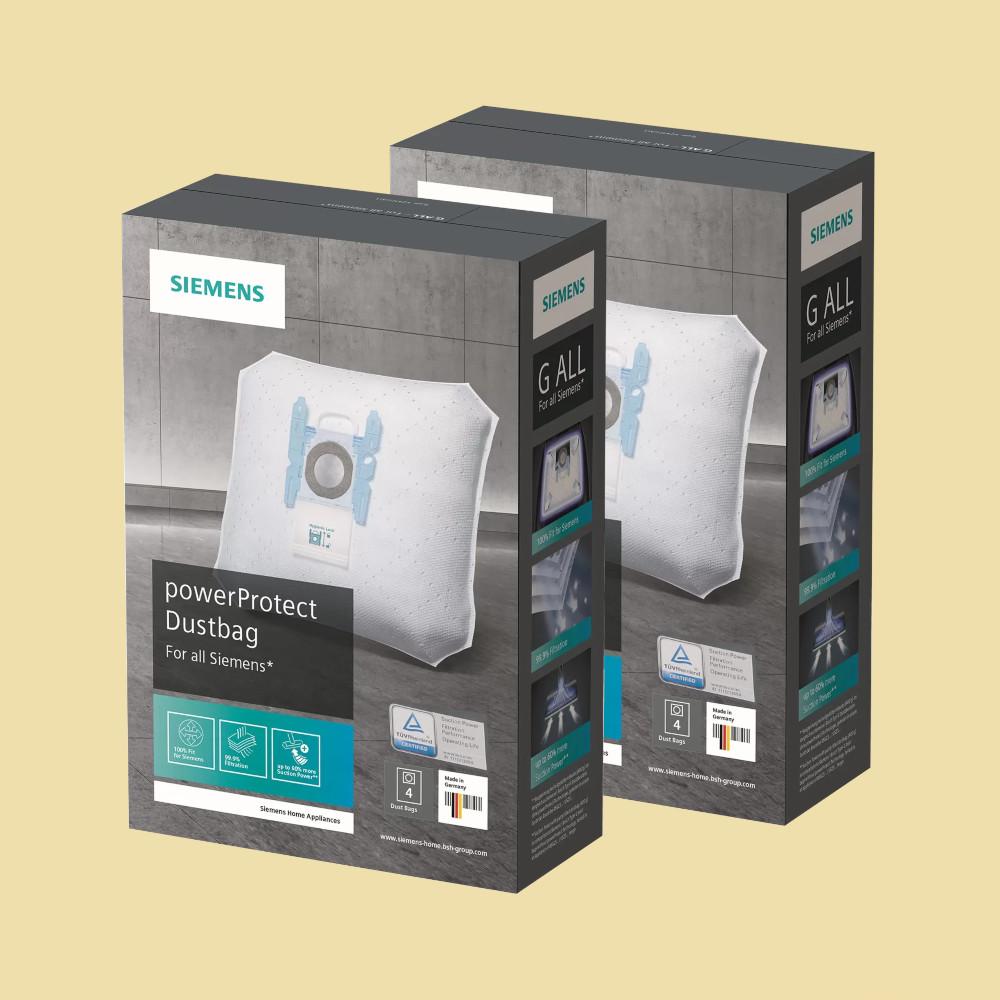 10 Staubsaugerbeutel für Siemens Serien: VSQ4 .. // VSQ5 .. VZ41FGALL // VSQ8 .