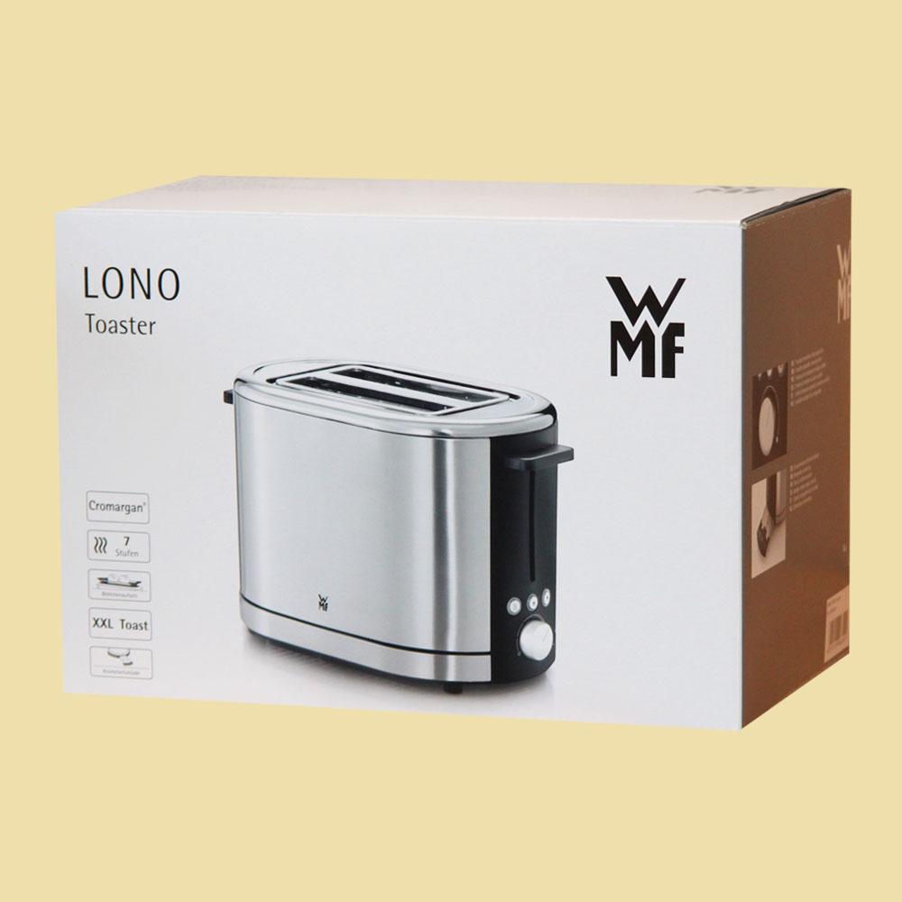 wmf toaster lono edelstahl schwarz ebay. Black Bedroom Furniture Sets. Home Design Ideas